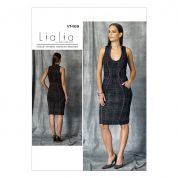 Vogue Ladies Sewing Pattern 1469 Lined Sleeveless Dress with Seam Detail