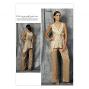 Vogue Ladies Sewing Pattern 1480 Evening Wear Top & Trouser Pants