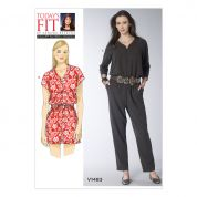 Vogue Ladies Sewing Pattern 1483 Raglan Sleeve Jumpsuit & Romper