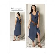 Vogue Ladies Sewing Pattern 1489 Draped V Neck Dress