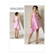 Vogue Ladies Sewing Pattern 1490 Asymmetrical Hem Lined Dress