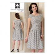 Vogue Ladies Easy Sewing Pattern 1499 Cap Sleeve, Pleated Skirt Dress