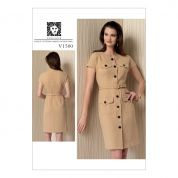 Vogue Ladies Easy Sewing Pattern 1500 Shirtdress with Pockets & Belt