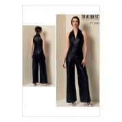 Vogue Ladies Easy Sewing Pattern 1506 Sleeveless Wide Leg Jumpsuit