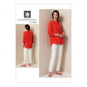 Vogue Ladies Sewing Pattern 1509 Banded Tunic with Yoke & Tapered Pants