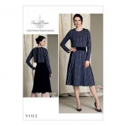 Vogue Ladies Sewing Pattern 1512 Popover Midi Dress