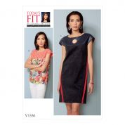 Vogue Ladies Sewing Pattern 1530 Dress & Top with Yokes & Bands