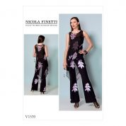 Vogue Ladies Sewing Pattern 1539 Asymmetrical Hem Tunic & Jumpsuit