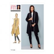 Vogue Ladies Sewing Pattern 1540 Banded Coat & Waistcoat