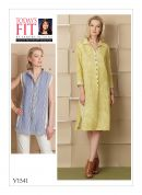 Vogue Ladies Easy Sewing Pattern 1541 Loose Fitting Dress & Shirt