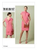Vogue Ladies Easy Sewing Pattern 1544 Shift Dress with Back Drop Collar & Tie