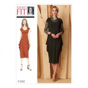 Vogue Ladies Easy Sewing Pattern 1552 Knit Draped Dresses