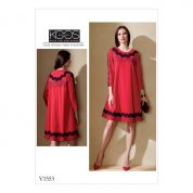 Vogue Ladies Sewing Pattern 1553 Knit Swing Dress