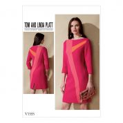 Vogue Ladies Sewing Pattern 1555 Dress with Asymmetrical Insets