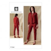 Vogue Ladies Sewing Pattern 1560 Loose Jacket & Slim Pants
