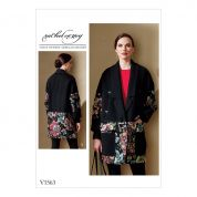 Vogue Ladies Sewing Pattern 1563 Loose Jacket with Welt Pockets
