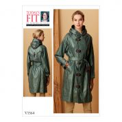 Vogue Ladies Sewing Pattern 1564 Raincoat with Hood & Belt