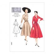 Vogue Ladies Sewing Pattern 2401 Vintage Style Dresses with Front Tie