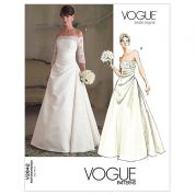 Vogue Ladies Sewing Pattern 2842 Bridal Off Shoulder Wedding Dresses