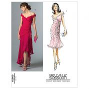 Vogue Ladies Sewing Pattern 2880 Lined Dress with Ruffles