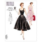 Vogue Ladies Sewing Pattern 2902 Vintage Style Dresses & Belt