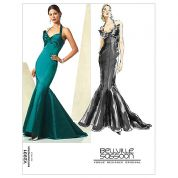 Vogue Ladies Sewing Pattern 2931 Fishtail Evening Dress with Train