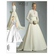 Vogue Ladies Sewing Pattern 2979 Bridal Wedding Dress & Sash