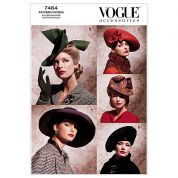 Vogue Ladies Sewing Pattern 7464 Vintage Style Hats
