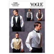 Vogue Men's Sewing Pattern 7488 Smart Waistcoats