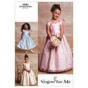 Vogue Childrens Sewing Pattern 7681 Special Occasion Dresses
