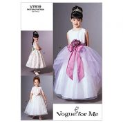 Vogue Childrens Sewing Pattern 7819 Special Dresses, Sash & Jacket