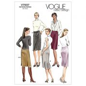 Vogue Ladies Easy Sewing Pattern 7937 Skirt in 4 Variations