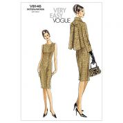 Vogue Ladies Easy Sewing Pattern 8146 Dress & Jacket Suit