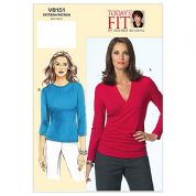 Vogue Ladies Easy Sewing Pattern 8151 Casual Jersey Tops
