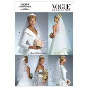 Vogue Ladies Sewing Pattern 8374 Wedding Bridal Veils