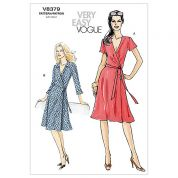 Vogue Ladies Easy Sewing Pattern 8379 Wrap Dresses with Side Ties
