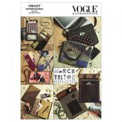 Vogue Accessories Easy Sewing Pattern 8407 Bags, Eyeglass Case & Journal Cover