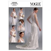 Vogue Ladies Sewing Pattern 8569 Wedding Headpieces, Tiara & Bridal Veils