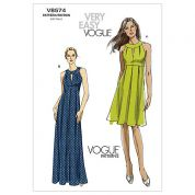 Vogue Ladies Easy Sewing Pattern 8574 Floor & Knee Length Dresses
