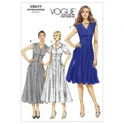 Vogue Ladies Easy Sewing Pattern 8577 Tea Dress with Pockets