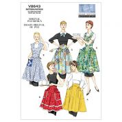 Vogue Ladies Sewing Pattern 8643 Vintage Style Aprons