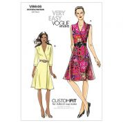 Vogue Ladies Easy Sewing Pattern 8646 Wrap Dress with Cup Sizes