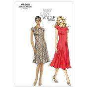Vogue Ladies Easy Sewing Pattern 8665 Flared Dresses