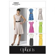 Vogue Ladies Easy Sewing Pattern 8667 Princess Seam Dresses