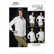 Vogue Ladies Easy Sewing Pattern 8689 Shirt Tops