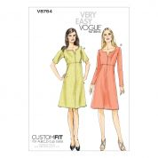 Vogue Ladies Easy Sewing Pattern 8764 Lined Dresses