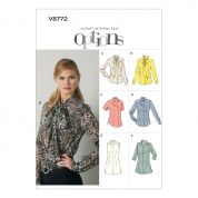 Vogue Ladies Easy Sewing Pattern 8772 Blouse Tops