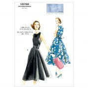Vogue Ladies Easy Sewing Pattern 8788 Vintage Style Wrap Dresses