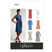 Vogue Ladies Easy Sewing Pattern 8810 Button Up Dresses & Belt