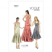 Vogue Ladies Easy Sewing Pattern 8814 Evening Dresses with Cup Sizes